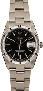 Pre-Owned Rolex Date 15210 Black Dial