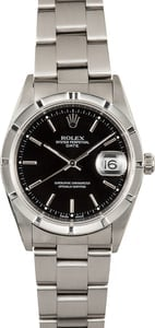 Rolex Date 15210 Black Index Dial