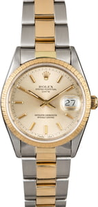 Rolex Date 15223 Two Tone Oyster Band