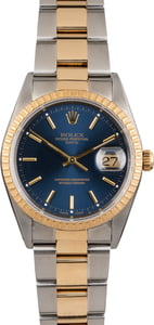 Pre Owned Blue Dial Rolex Date 15223