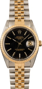 Pre-Owned Rolex Date 15223 Black Dial
