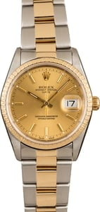 Pre-Owned Rolex Date 15223 Champagne Dial Watch