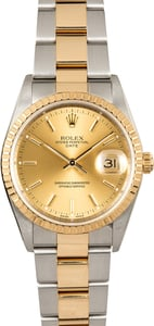 Rolex Date 15223 Champagne Index Dial