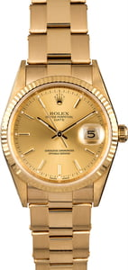 Rolex Date 15238 Oyster Rivet Band