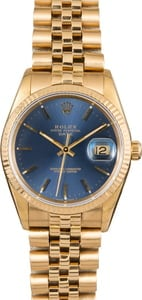 Rolex Date 15238 Blue Index Dial