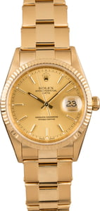 Pre-Owned Rolex Date 15238 Oyster Rivet