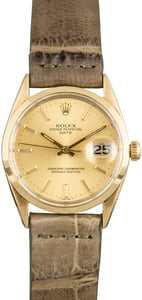 Vintage Rolex Date 1550 Champagne Dial