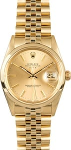 Rolex Date Yellow Gold 15007
