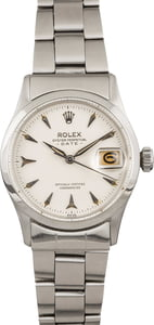 Used Rolex Date 6518 White Arrowhead Dial