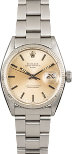 Vintage Rolex Date 6534 Silver Index Dial