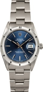 Rolex Date Stainless 15210 Blue Index Dial