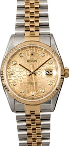 Rolex DateJust 16233 Champagne Jubilee Diamond Dial