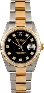 Rolex Diamond DateJust 16233 Two Tone Oyster