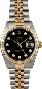 Rolex Diamond DateJust 16233 Two Tone Jubilee
