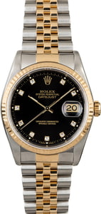 Rolex DateJust Stainless & Gold Diamond Dial 16233
