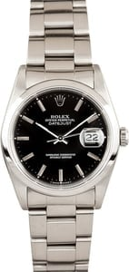 Rolex DateJust 16220 Steel Bezel