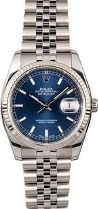 Rolex Datejust Blue Dial 116234