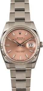 Pre Owned Rolex Date 115234 Pink Index Dial
