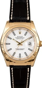 Rolex Datejust 116138 White Dial