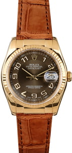 Rolex Datejust 116138 Chocolate Arabic Dial
