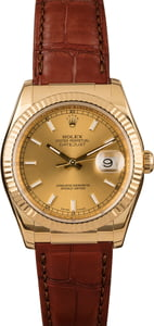 Used Rolex Datejust 116138 Yellow Gold Watch