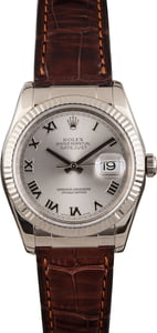Pre Owned Rolex Datejust 116139 Alligator Strap