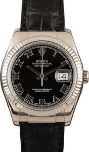 Used Rolex Datejust Black Dial 116139