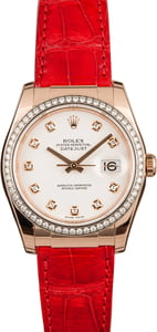 Pre-Owned Rolex Datejust 116185 Diamond Bezel & Dial