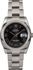 Men's Rolex Datejust 116200 Black Sunbeam