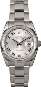 Used Rolex Datejust 116200 Rhodium Roman Dial