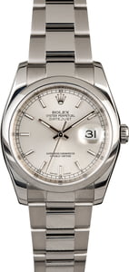 Used Rolex Datejust 116200 Silver Dial