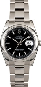 Rolex Datejust 116200 Black Luminescent Dial