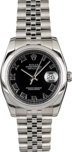 Rolex Datejust 116200 Black Dial Steel Jubilee