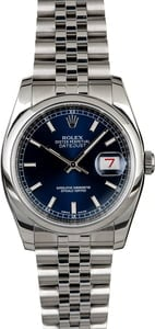 Rolex Datejust 116200 Blue Index Dial