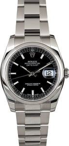 Men's Rolex Datejust 116200 Black Dial