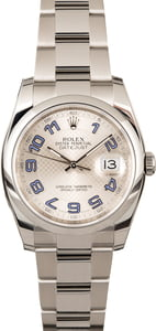 Rolex Datejust 116200 Silver Decorated Dial