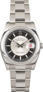 Pre Owned Rolex Datejust 116200 Tuxedo Dial
