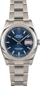 Rolex Datejust 116200 Blue Dial Steel Oyster