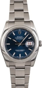 Rolex Datejust 116200 Blue Luminous Dial