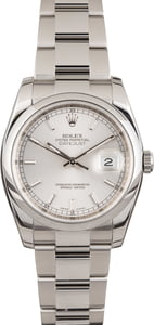Used Rolex Datejust 116200 Silver Dial Steel Oyster