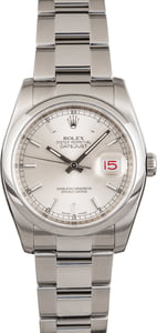 Used Rolex Datejust 116200 Silver Index Dial