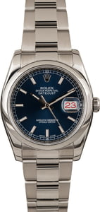 Pre Owned Rolex Datejust 116200 Blue Luminous Dial