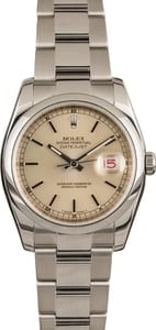 Pre-Owned Rolex Datejust 116200 Silver Index Dial