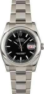 Used Men's Rolex Datejust 116200 Black Dial