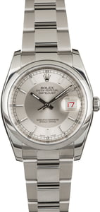 Pre Owned Rolex Datejust 116200 Silver Tuxedo Dial