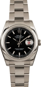 Pre-Owned Rolex Datejust 116200 Black Dial