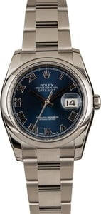 Pre-Owned Rolex Datejust 116200 Blue Dial