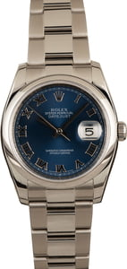 Pre-Owned Rolex Datejust 116200 Blue Roman Dial