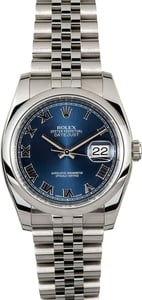 Rolex Datejust 116200 Blue 100% Authentic