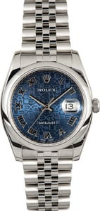 Rolex Datejust 116200 Blue Jubilee 100% Authentic